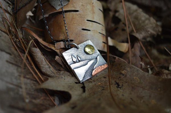 New Year Noquemanon Trail Network Pendant by Beth Millner Jewelry