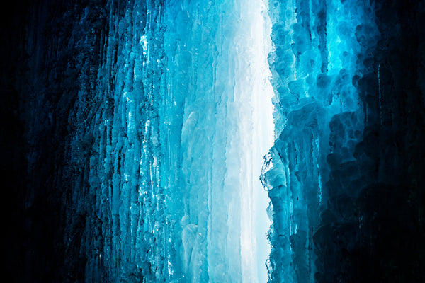Beth Millner Jewelry Staff Exploring Ice Caves near Marquette