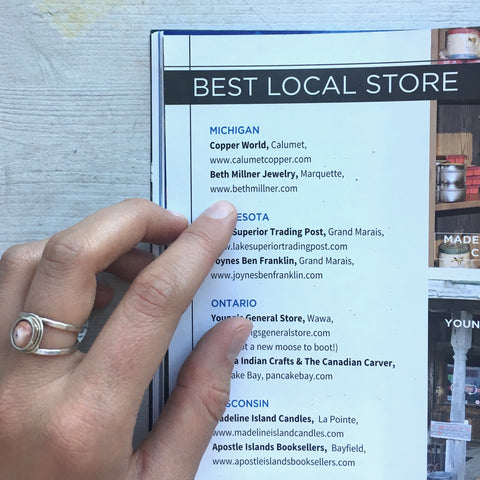 Beth Millner Jewelry Best Local Store in Lake Superior Magazine 2017