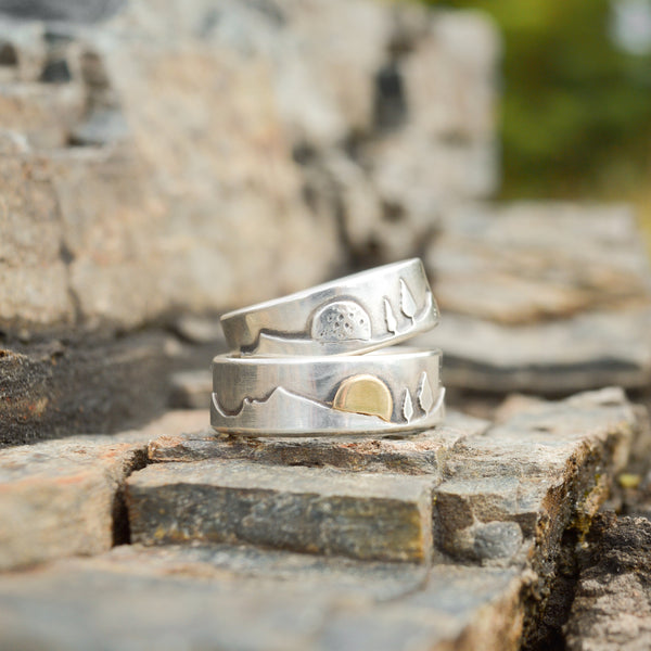 New Year Sunrise Mountain Pines Ring by Beth Millner Jewelry