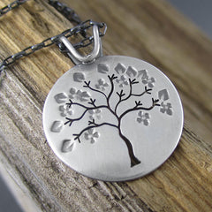 Handmade Springtime in Michigan Sterling Silver Pendant by Beth Millner Jewelry