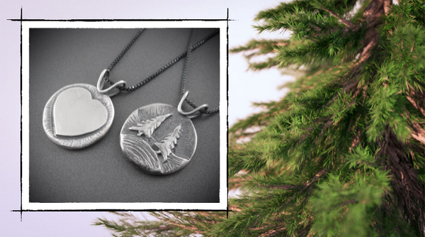 pine tree valentines day nature Beth Millner Jewelry silver