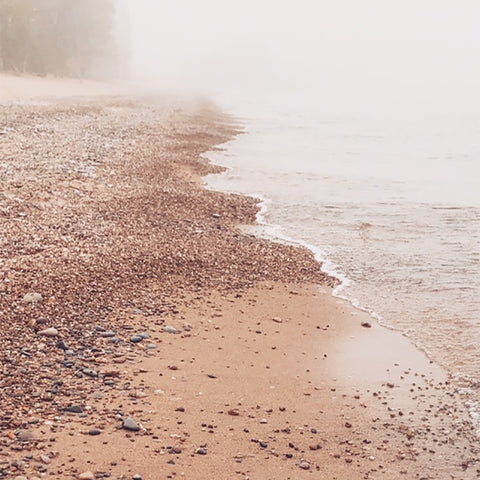 Foggy Lake Superior Shoreline - Beth Millner Jewelry