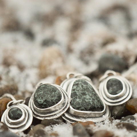 Michigan Greenstone Pendants by Beth Millner Jewelry
