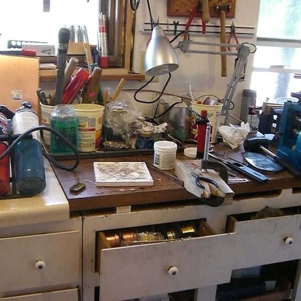 Beth Millner's mobile jewelry workbench circa 2008