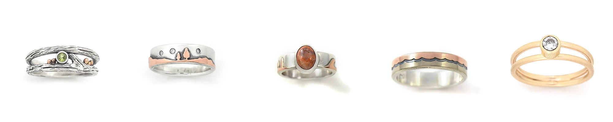 Custom ring designs handcrafted by Beth Millner Jewelry