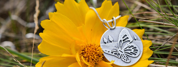 monarch migration fundraiser pendant by beth millner jewelry