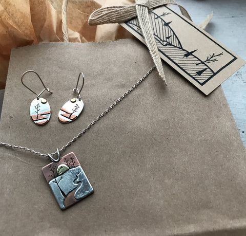locally inspired landscape pieces linking to the locally inspired collection by beth millner jewelry