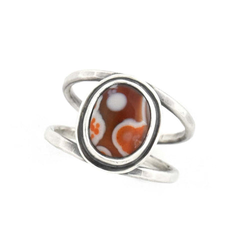 Lake Superior Agate Ring handmade by Beth Millner Jewelry