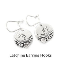 sterling silver latching earring hooks by Beth Millner Jewelry