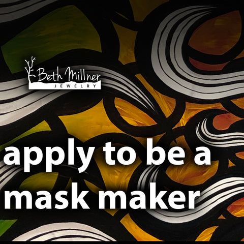 Handmade cloth masks at Beth Millner Jewelry