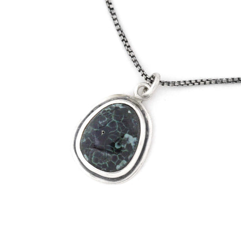 Michigan Greenstone drop pendant by Beth Millner Jewelry