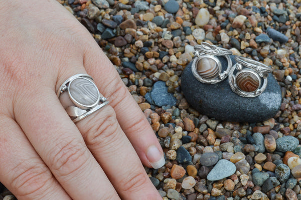 Lake Superior Agate Ring by Beth Millner Jewelry