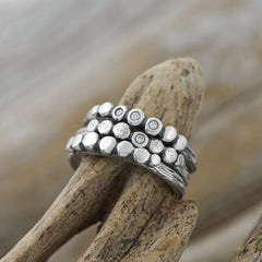 Twig Pebble Rings by Beth Millner Jewelry