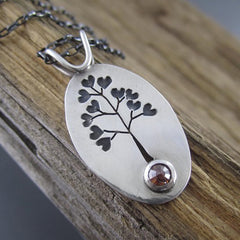 Love Rocks Rustic Diamond Tree Pendant by Beth Millner Jewelry