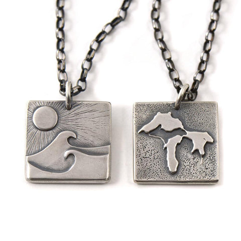 Superior Watershed Fundraiser Pendant handmade by Beth Millner jewelry