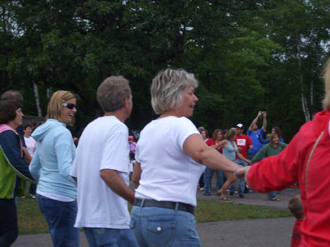 People dancing at the Italian Fest photo by Beth Millner Jewelry Ambassador Alaina