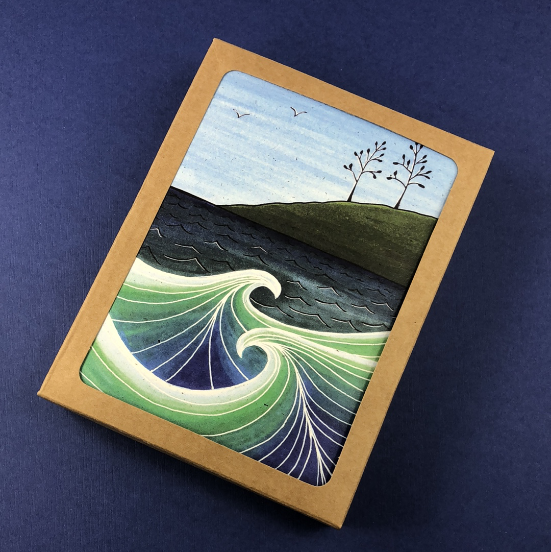 6 Pack - McCarty's Cove Greeting Card - Tree Planted with Purchase, Artisan Goods handmade by Beth Millner Jewelry