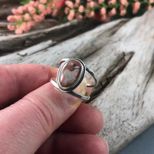 Lake Superior Agate Ring - Size 7.25