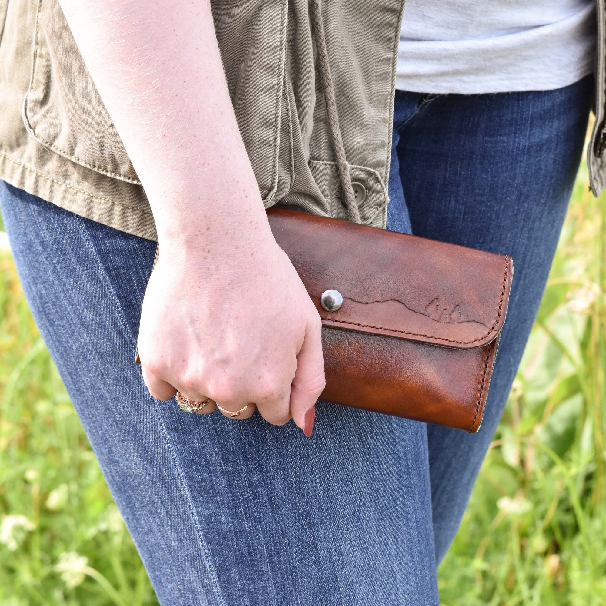 Conifer Couple Clutch Wallet, Artisan Goods handmade by Beth Millner Jewelry