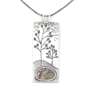Dappled Clouds Wonderland Pendant, Silver Pendant handmade by Beth Millner Jewelry