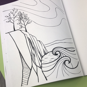 Dreamscapes Coloring Book - Tree Planted with Purchase, Artisan Goods handmade by Beth Millner Jewelry
