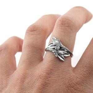 Entwined Branches Twig Ring, Wedding Ring handmade by Beth Millner Jewelry
