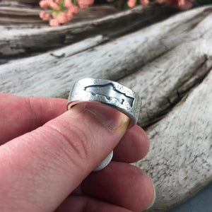 Trout Silhouette Ring
