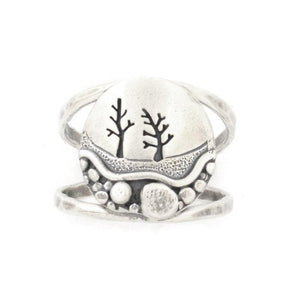 Frosted Pebble Trail Ring, Ring handmade by Beth Millner Jewelry
