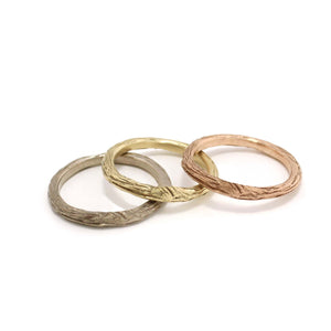 Gold Twig Ring, Wedding Ring handmade by Beth Millner Jewelry