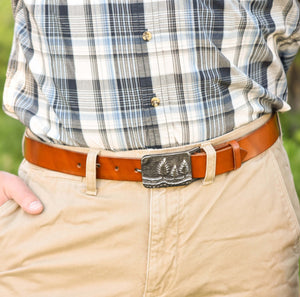 Handcrafted Leather Belt, Artisan Goods handmade by Beth Millner Jewelry