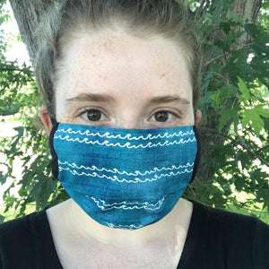 Handmade Superior Health Foundation Fundraiser Cloth Mask - with elastic ear loops, COVID handmade by Beth Millner Jewelry