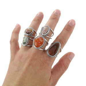 Lake Superior Agate Ring - Select Sizes, Ring handmade by Beth Millner Jewelry