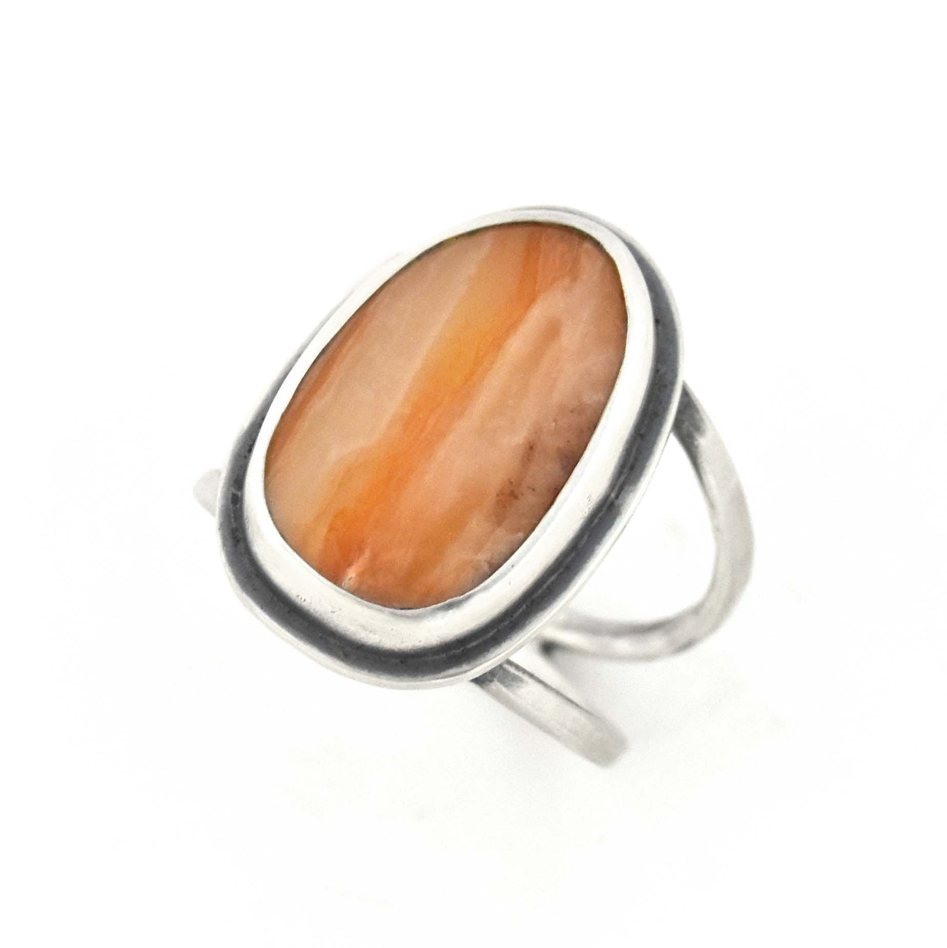 Marquette Lake Superior Agate Ring - Size 7.25, Ring handmade by Beth Millner Jewelry