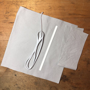 Mask Kit - Organic Gray 100% Cotton no.2, COVID handmade by Beth Millner Jewelry