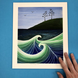 McCarty's Cove Artist Print - Tree Planting with Purchase, Artisan Goods handmade by Beth Millner Jewelry