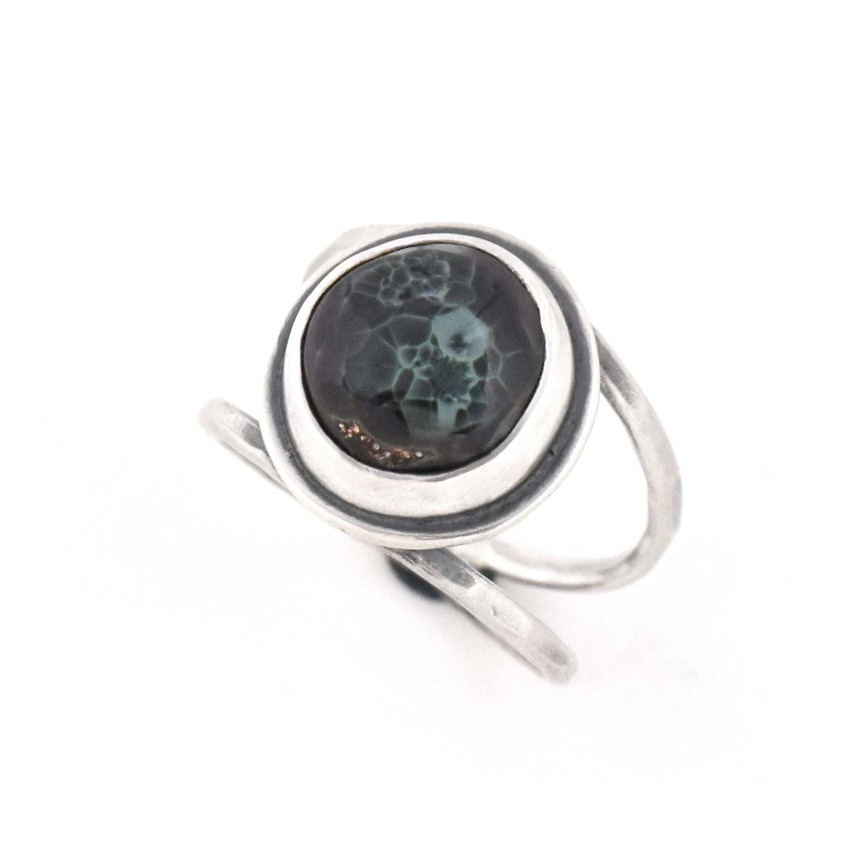 Michigan Greenstone Ring - Size 8, Ring handmade by Beth Millner Jewelry