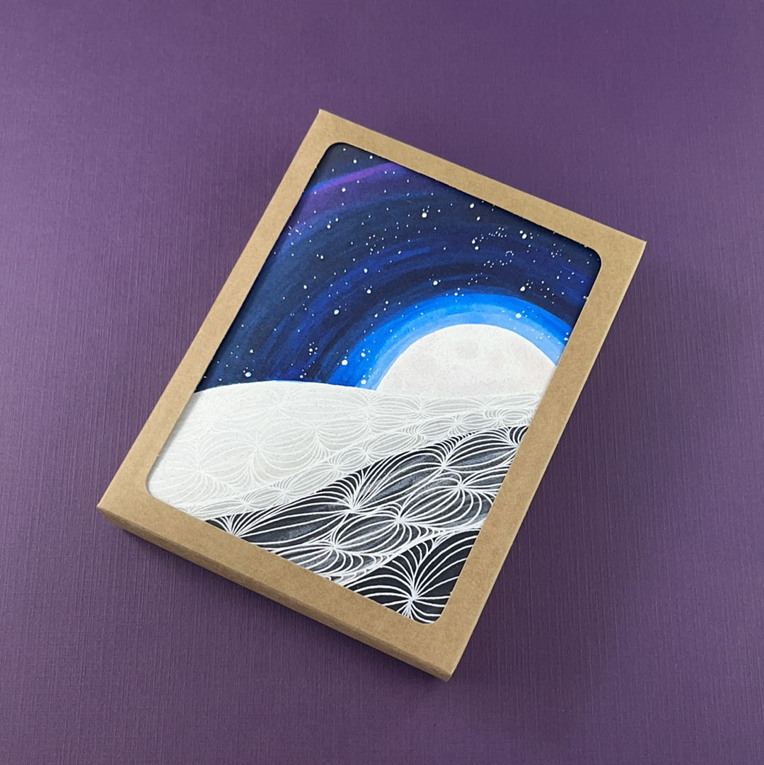 Moonscape Greeting Card - Pack of 10, Artisan Goods handmade by Beth Millner Jewelry