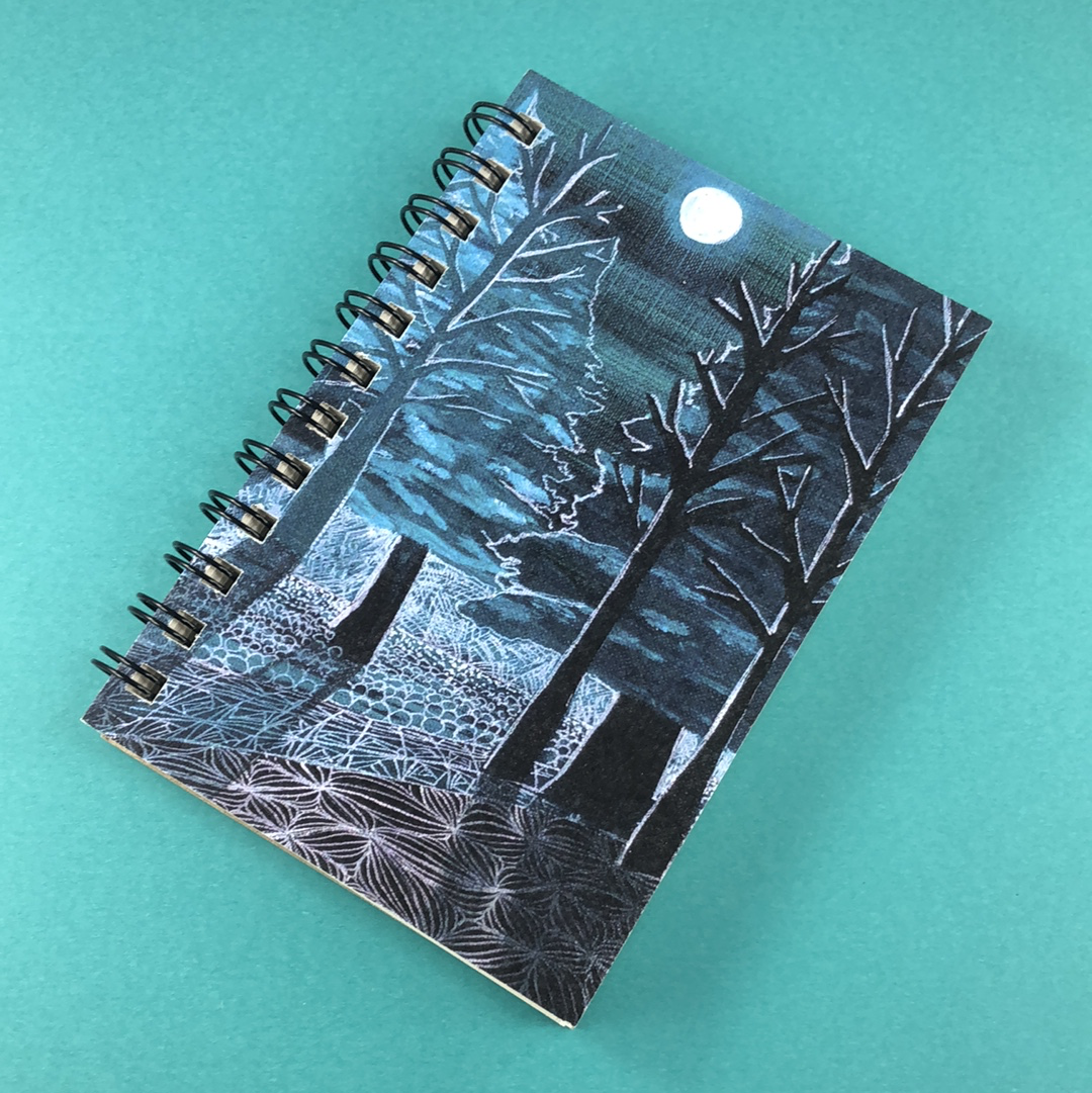 Presque Isle Moonlight Hemp Sketchbook - Tree Planted with Purchase, Artisan Goods handmade by Beth Millner Jewelry