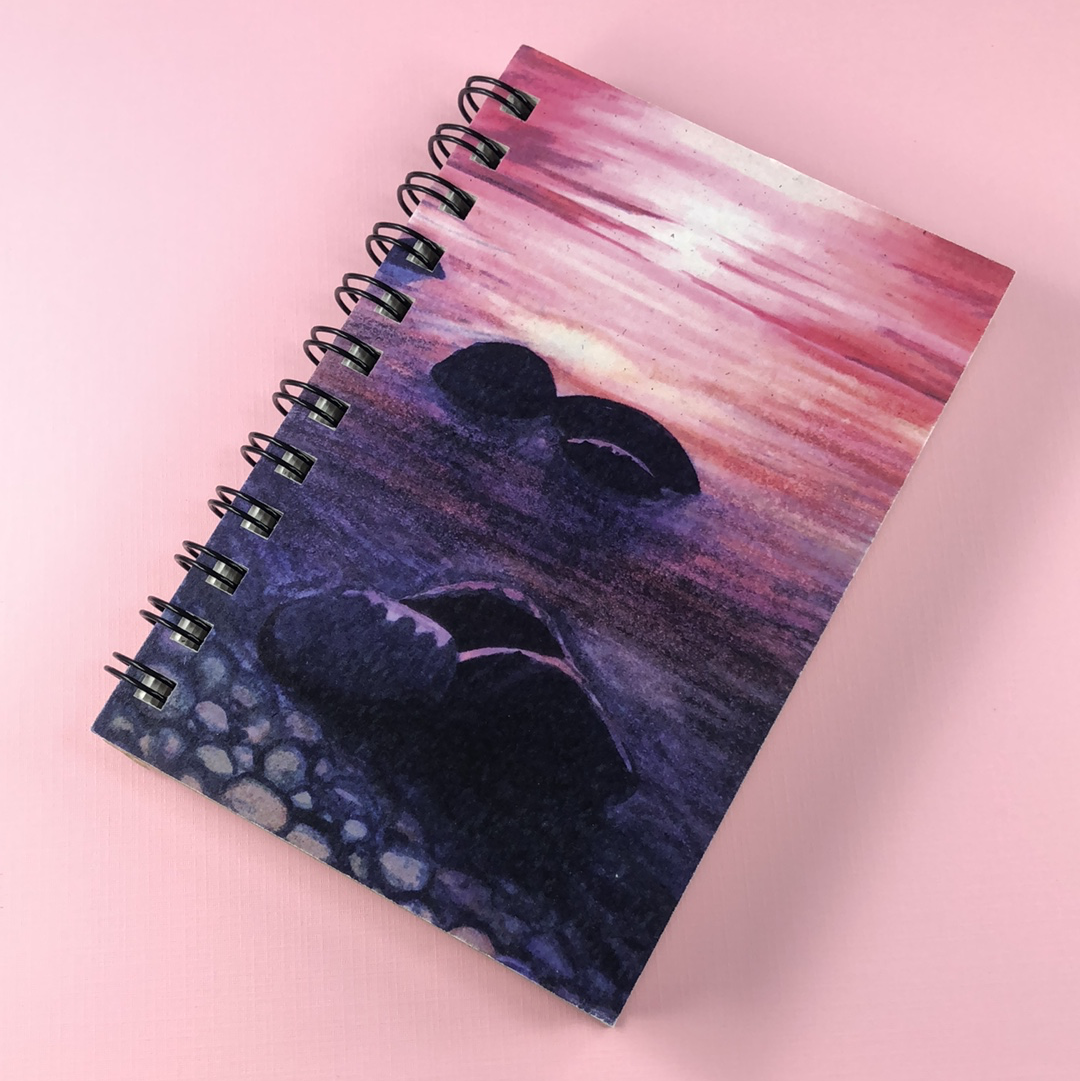 Rocky Shoreline Hemp Sketchbook - Tree Planted with Purchase, Artisan Goods handmade by Beth Millner Jewelry