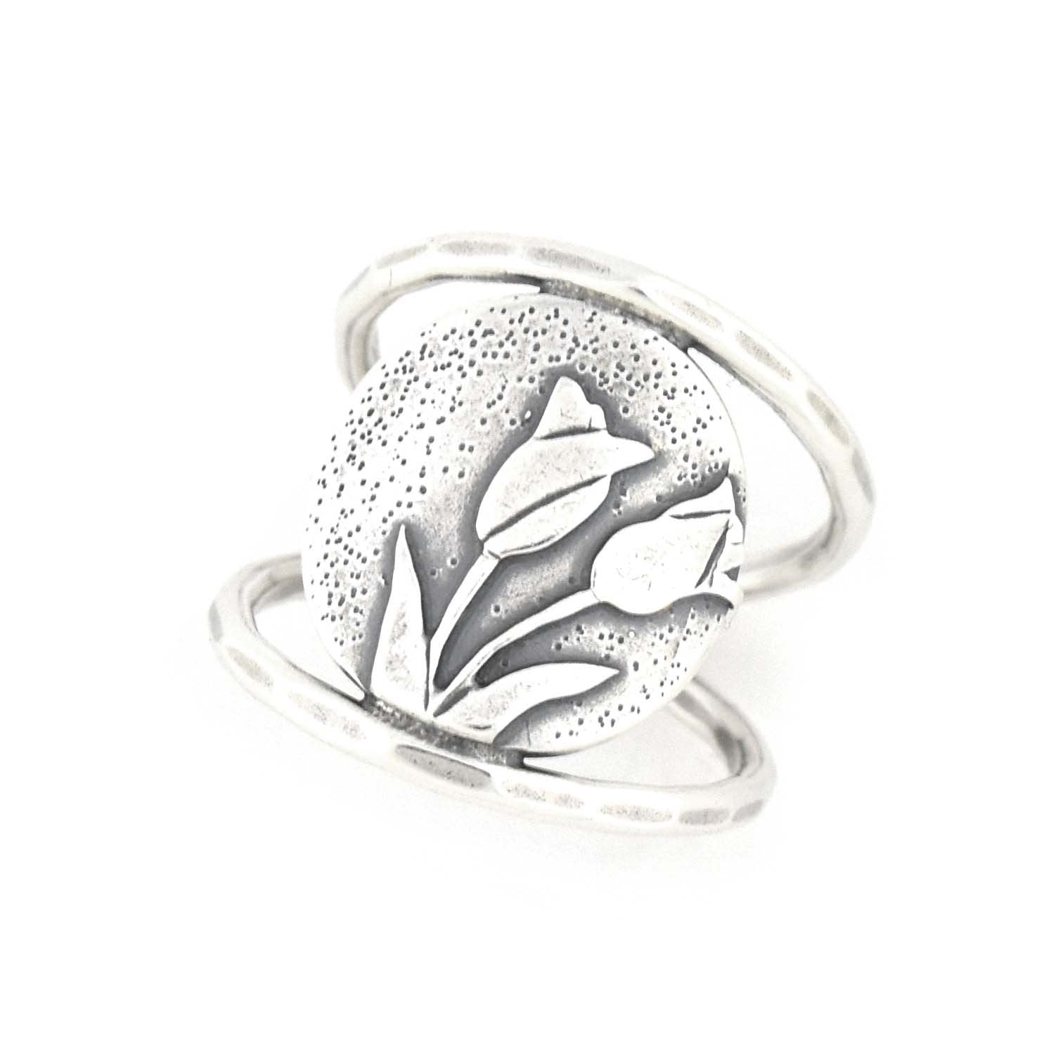 Spring Tulip Bouquet Ring, Ring handmade by Beth Millner Jewelry