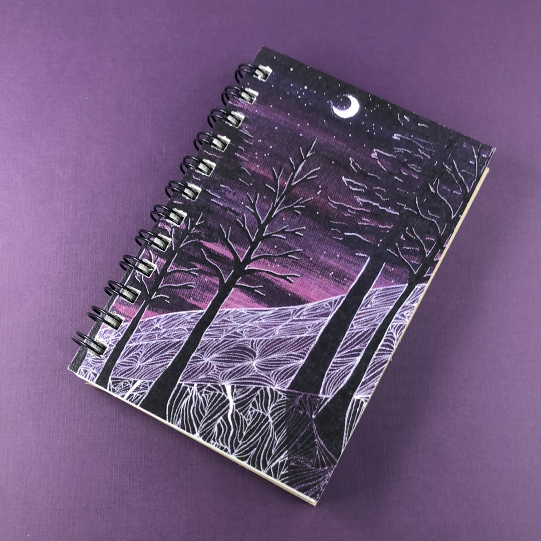 Sugar Loaf Midnight Hemp Sketchbook - Tree Planted with Purchase, Artisan Goods handmade by Beth Millner Jewelry