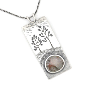 Summer Clouds Wonderland Pendant, Silver Pendant handmade by Beth Millner Jewelry