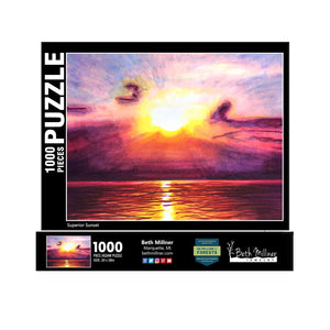 Superior Sunset 1000 Piece Puzzle - Tree Planted with Purchase, Artisan Goods handmade by Beth Millner Jewelry