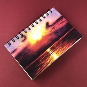 Superior Sunset Hemp Sketchbook - Tree Planted with Purchase, Artisan Goods handmade by Beth Millner Jewelry