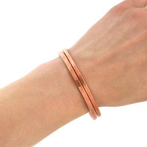 Thick Copper Hammered Bangle, Bracelet handmade by Beth Millner Jewelry