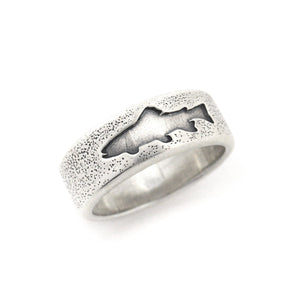 Trout Silhouette Ring, Ring handmade by Beth Millner Jewelry