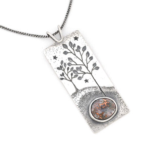 Written in the Stars Wonderland Pendant, Silver Pendant handmade by Beth Millner Jewelry