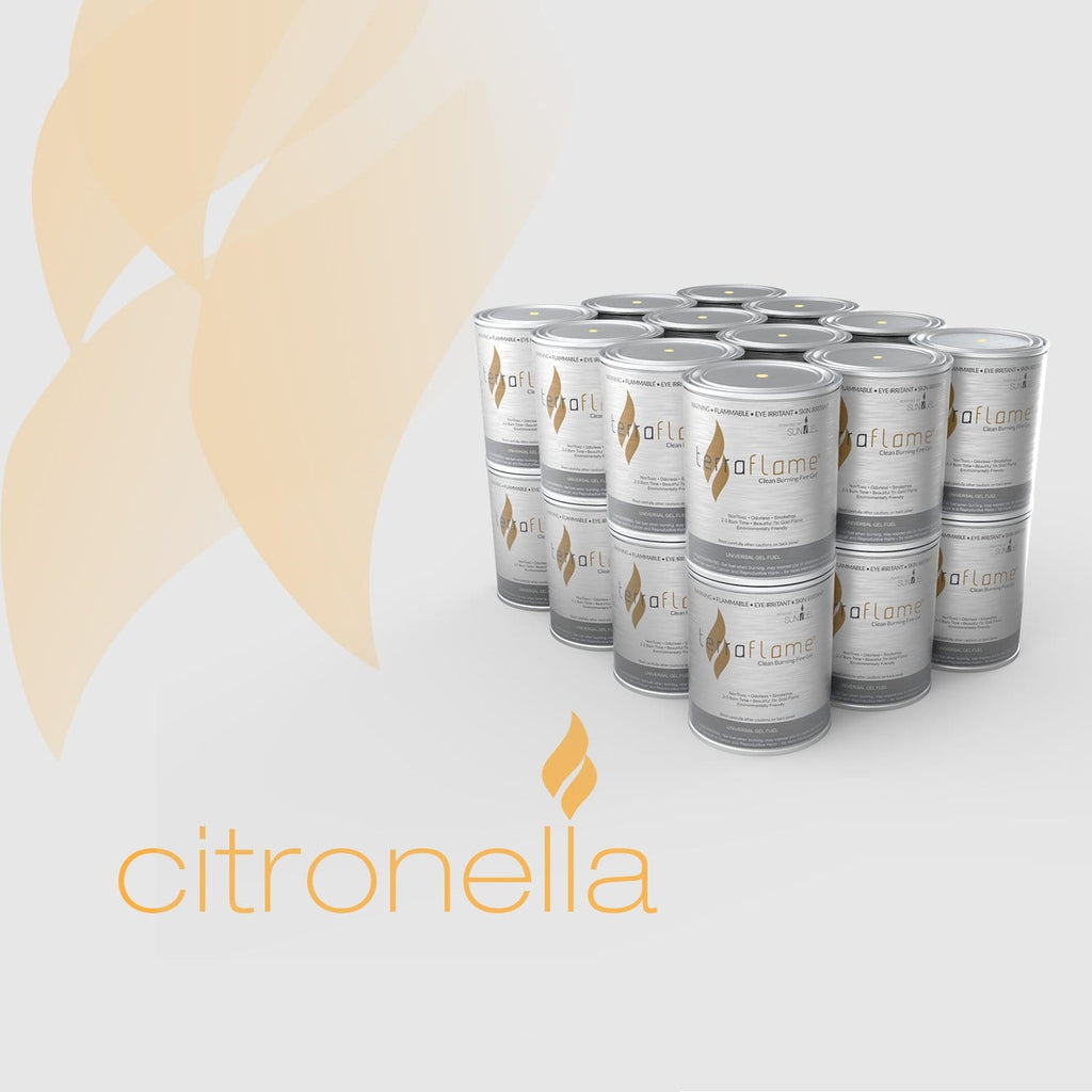 Terra Flame Citronella Gel Fuel by SunJel - 24 Pack