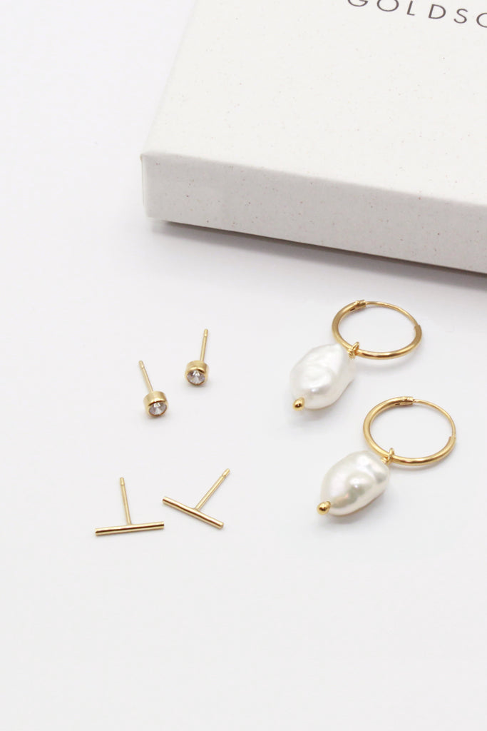 Pearl Earrings Set